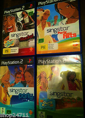 SINGSTAR PS2 KARAOKE MUSIC SINGING DVD'S x4