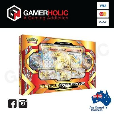Pokemon TCG Arcanine Break Evolution Collection Box Brand New IN STOCK