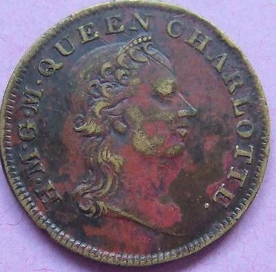 Small Brass Medal commemorating the life of Queen Charlotte........J 107