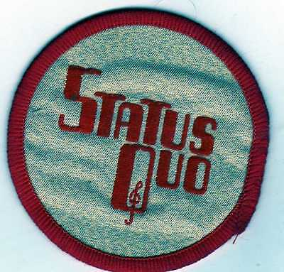 """STATUS QUO VINTAGE late 70.s sew patch 2.75"""""""
