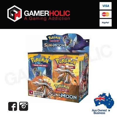 Pokemon TCG Sun And Moon Booster Box - Free Shipping Factory Sealed 36 Boosters