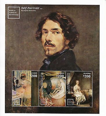 Guyana 2014 MNH World Famous Paintings 3v M/S Degas Hieronymus Bosch Stamps