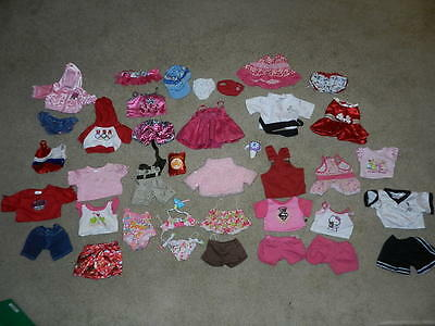 Huge Authentic BAB Build A Bear Huge Lot of Clothes
