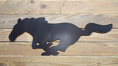Ford Mustang Horse Pony Logo Mancave Metal Wall Decor Old School