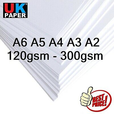 A6 A5 A4 A3 A2 WHITE CRAFT DECOUPAGE CARD MAKING STOCK PAPER PRINTER 100- 300gsm