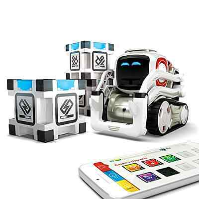 Toy Cozmo Robot Anki Real Life Drive On Off Charger 3 Power Cubes Ages 8 And Up