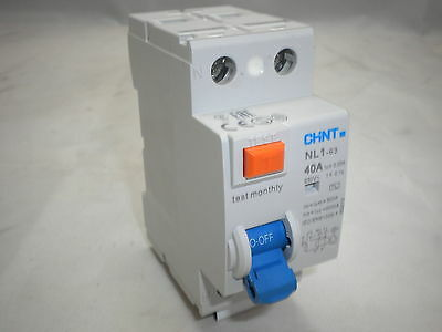 Chint Double 2 Pole Rcd Rccb Residual Current Device Ac Type Din Rail Mount 230V