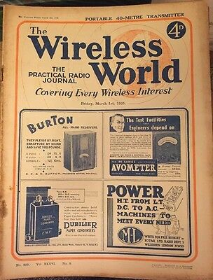 The Wireless World March 1935 Collectables Magazines Vintage