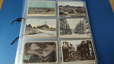 100 x Jersey Channel Islands Postcards Mostly circa 1910 In Plastic Envelopes