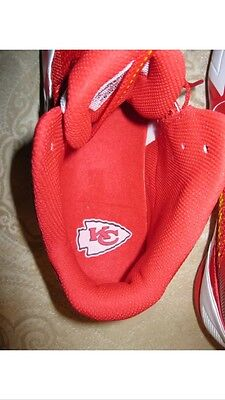 Nike Alpha Pro Mid Kansas City Chiefs Football Cleats. Men's Size 11. Red. White