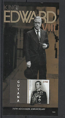 Guyana 2012 MNH King Edward VIII 75th Accession Anniv 1v S/S Royalty Stamps