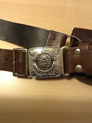 Vintage Girl Guides Belt. Circa 1960's. Includes Pouch & 2 Metal Clips