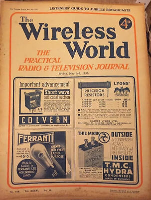 The Wireless World May 1935 Collectables Magazines Vintage