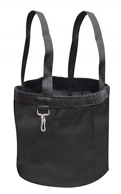 New BLACK Showman Collapsible Grooming Tote Bucket w/ Carry Handles