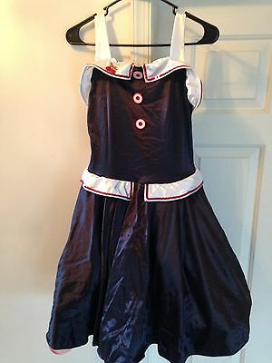 Revolution Dance Costume Size LA Black with Cherry and Buttons