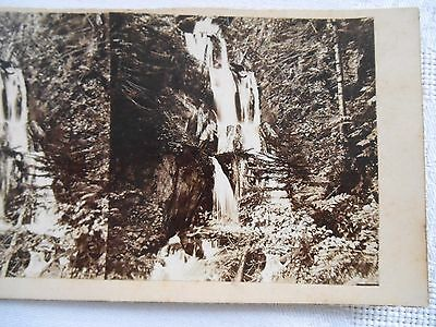 ANTIQUE FRENCH Stereoview Photo PYRENEES CASCADE DES PARISIENS WATERFALL