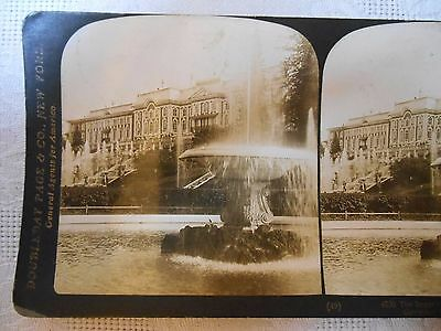 Stereoview Photo IMPERIAL PALACE PETERHOF RUSSIA FOUNTAIN DOUBLEDAY ALADDIN