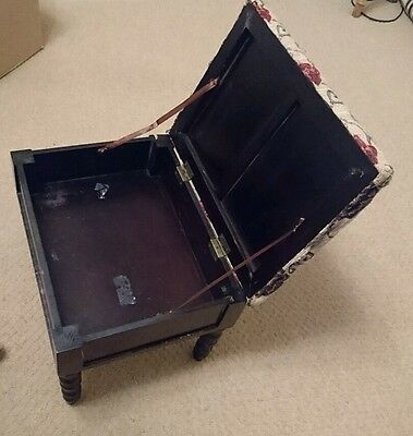 Foot stool Pouffe with storage. Slight wear and tear. Sold as seen in pictures.