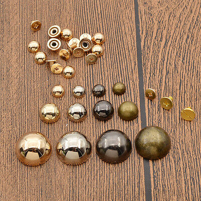 8mm/12mm/20mm Dome Rivet Screw DIY Leathercraft Punk Spots Hat Shoe Bag Decor