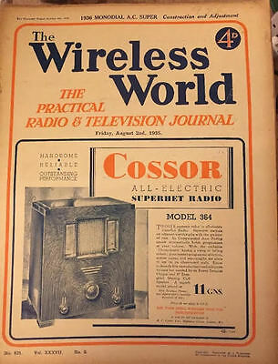 The Wireless World August 1935 Collectables Magazines Vintage