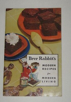 1930's Brer Rabbit's Molasses Recipes for Modern Living Cooking Original