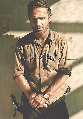 "Genuine 12""x8"" Hand Signed Photograph of Andrew Lincoln Walking Dead & COA"