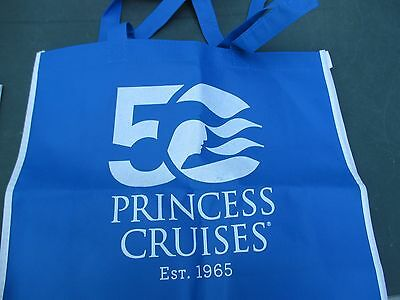 PRINCESS CRUISES LINE 50 YRS Blue Recycle Shopping Tote Bag Beach Carry-NEW