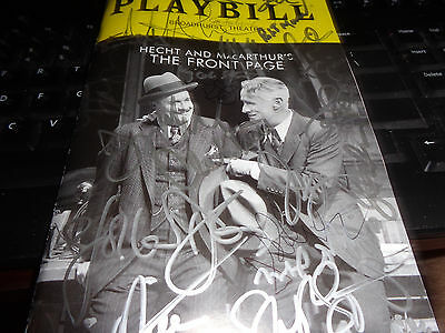 """hecht & Macarthur's The Front Page""(2016)Cast Signed Playbill!!"