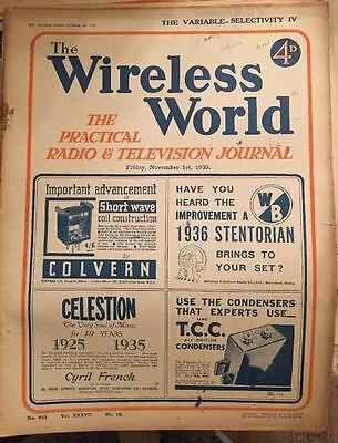 The Wireless World November 1935 Collectables Magazines Vintage