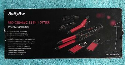 Babyliss 2800DU Pro Ceramic 12 in 1 Multi Hair Styler Curling Tong Straightener
