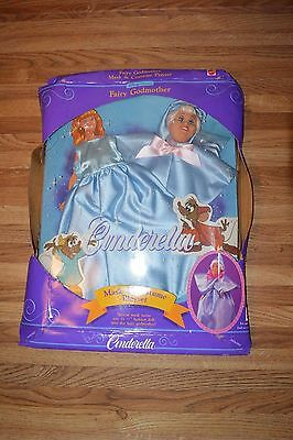 Disney Classics Cinderella Playset Fairy Godmother- Mask & Costume 1992 Free S&H