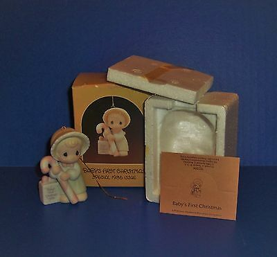 Precious Moments  Baby's First Christmas  Girl 1986 MIB