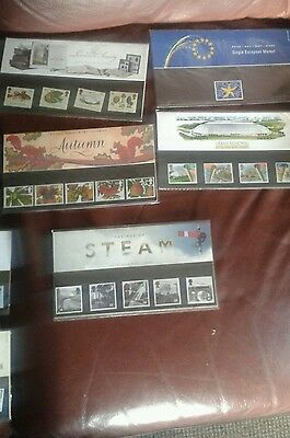 job lot of over 40 x  Royal Mail Mint Stamps' Presentation Packs and other makes