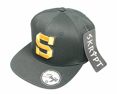 Mens Skrypt Baseball Cap Big S Letterman Snapback Hat One Size