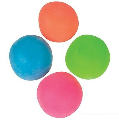 (4) Neon Moldable Squishy Stress Balls for Kids Tactile Fidget Toy
