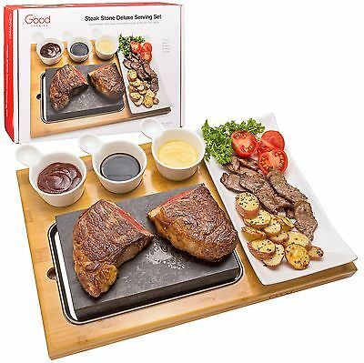 Cooking Stone for Tabletop- Deluxe Tabletop Hibachi Grilling Stone with Ceram...