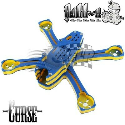 RaGG-E Curse HDPE Race Airframe Blue/Yellow/Blue