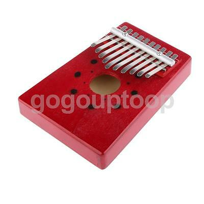 New Red Kalimba Thumb Piano 10 Keys Tunable Musical Instrument Toys for Kids