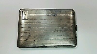 Antique Sterling Cigarette Case Money Holder 4680 BF