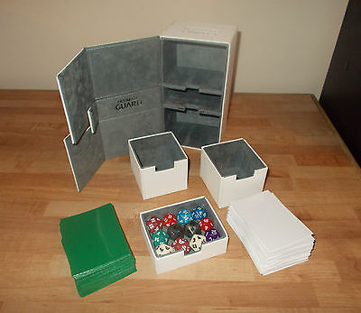 MTG ULTIMATE GUARD - Twin Flip'n'Tray DECK BOX 160 DECK SLEEVES 12 DICE