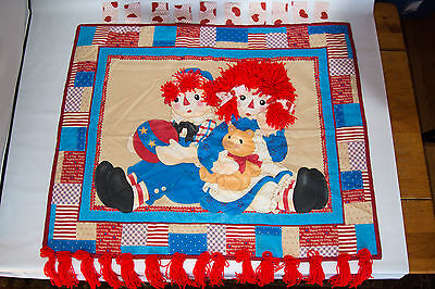 Handmade Raggedy Ann and Andy Quilt book and pouch