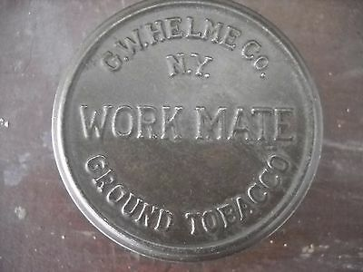 Vintage Work Mate Snuff Tobacco Container Can - Geo. W. Helme Co. USA