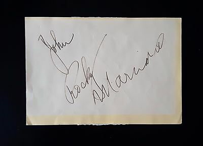 Rocky Marciano signed album page - undefeated Heavyweight Champ b4 Muhammad Ali