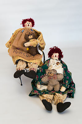 Rags and Patches FOLK Raggedy Ann Dolls