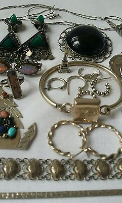 152 Gram Lot Sterling Silver 925 Jewelry Mixed Lot~Mostly Wearable 01117B