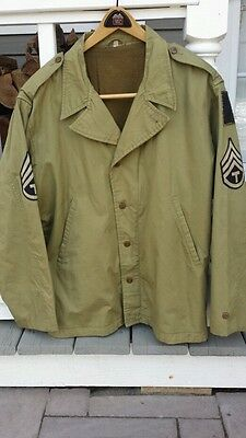 WW2 Era Repro? US Army M-1941 Field Jacket Excellent cond Desirable Size L (44)