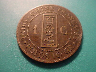 French Indochina 1886 1-Centime In Nice Condition