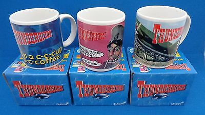 Thunderbirds Mugs Full Set Of 3 Boxed Never Used Vintage 1999 Gerry Anderson