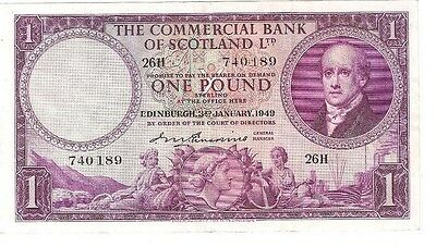 The Commercial Bank of Scotland Ltd. £1 note - issued January 1949