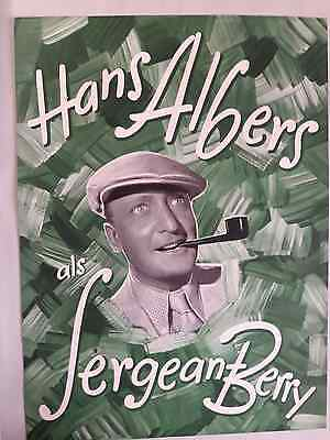 193?-Film-Sergeant Berry (Sergeant Berry) -Germany-Poster- Size 10/15 Inch